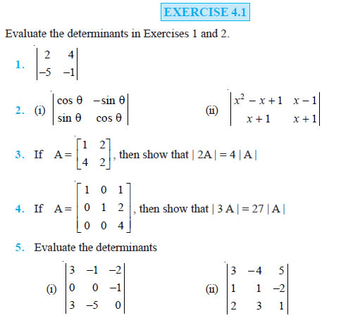 Determinants Class 12 NCERT Solutions