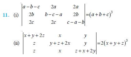 Determinants Class 12 NCERT Solutions