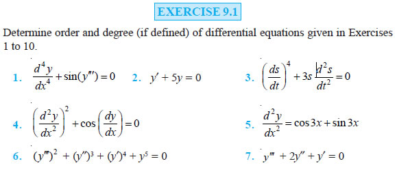 Differential Equations Class 12 NCERT Solutions