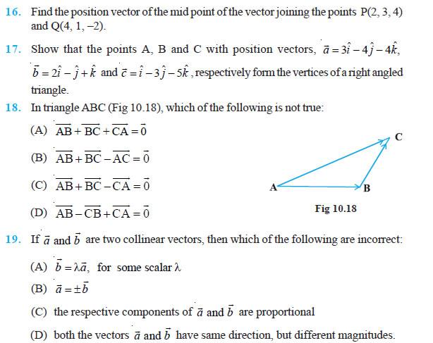 Vectors Ncert Solutions Pdf