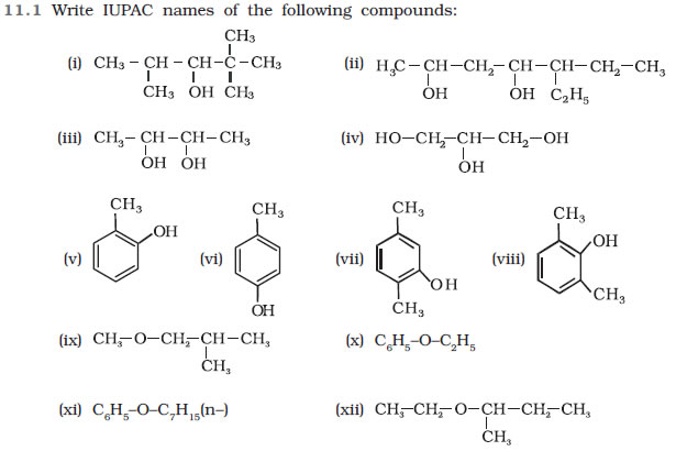 Alcohols, Phenols and Ethers Class 12 NCERT Solutions