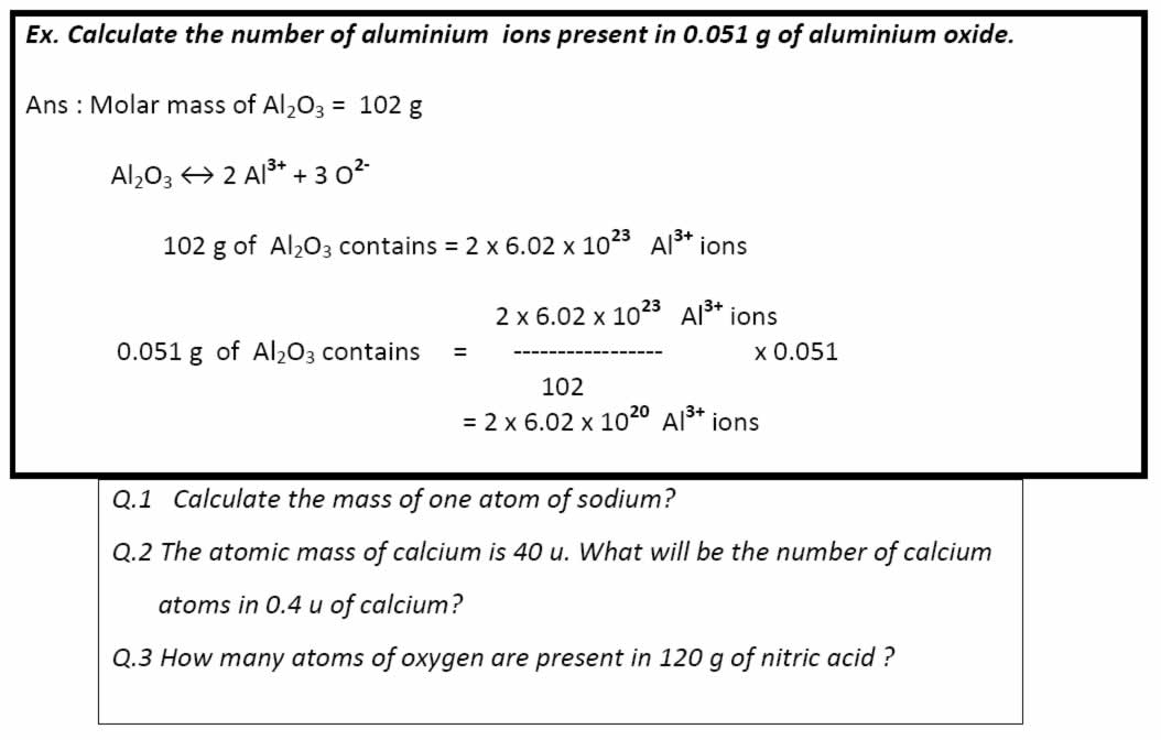 Calculate the number of aluminium ions present in 0.051 g of aluminium oxide.