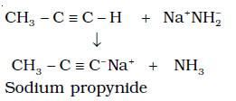 Terminal alkynes are acidic in nature