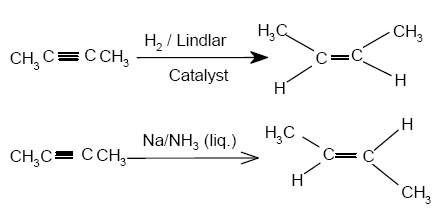 reduction of alkynes