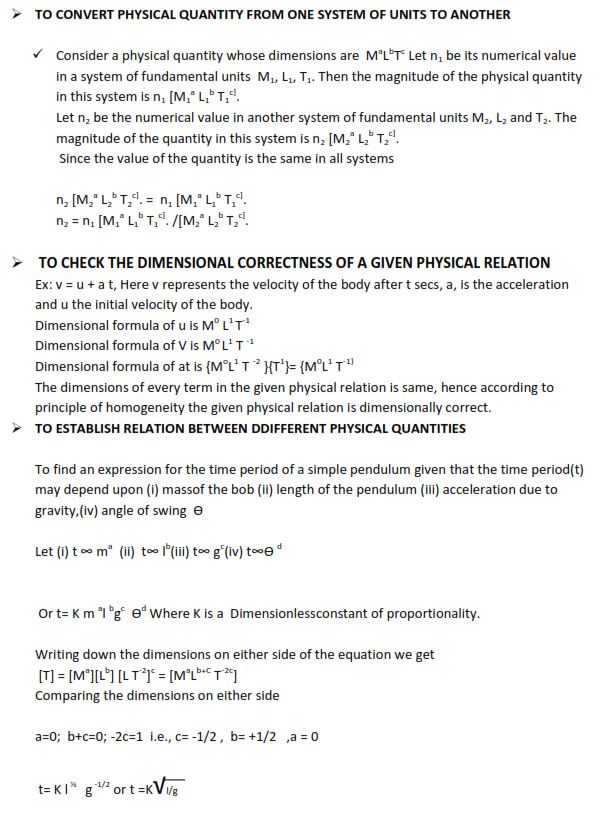 Units of Measurement Physics Class 11 Download notes in pdf