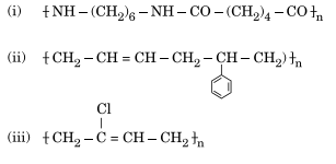 Write the names of monomers of the following polymers