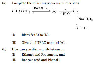Complete the following sequence of reactions