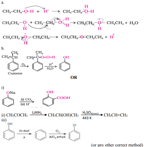 Write the mechanism of the following reaction